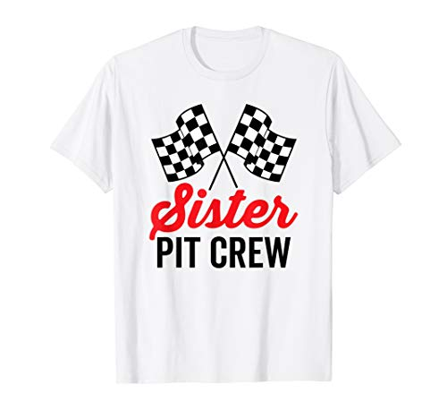 Sister Pit Crew Shirt for Racing Party Costume