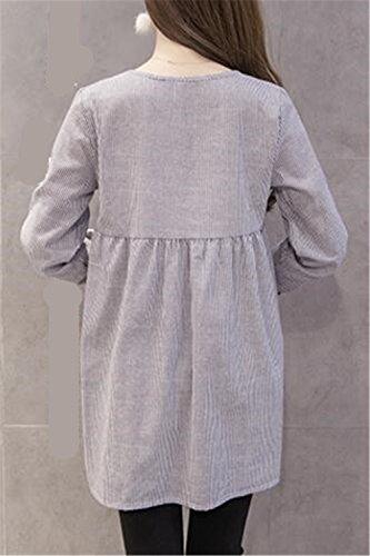 Kerlana Abito Elegante di Maternit Camicie Premaman B8Barqw