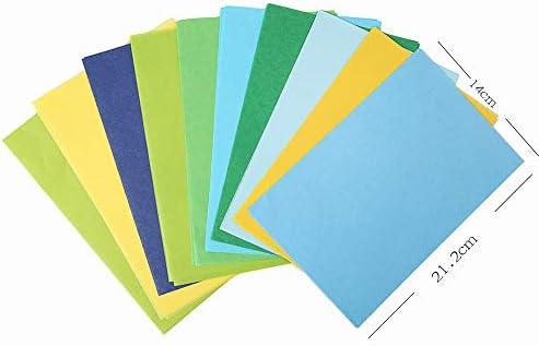 Hongma 100枚入り 折り紙 ペーパー カラフル 手芸 DIY 21.2x14cm 手作り 66枚入り混合 薄紙 1(100pcs)