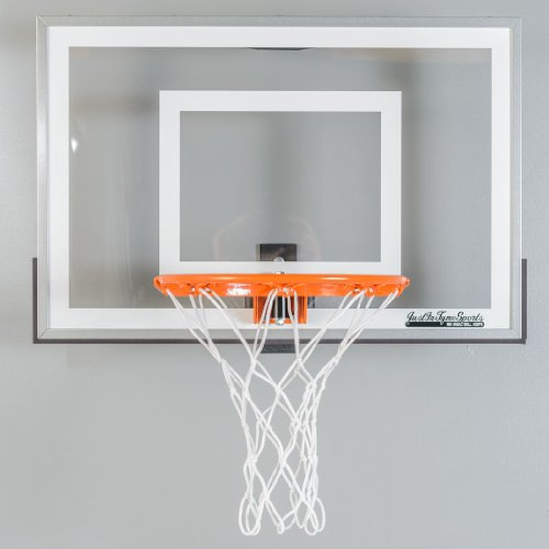Wall Mounted Mini Basketball Hoop - Mini Pro 2.0 (Mini Basketball Hoop For Bedroom)