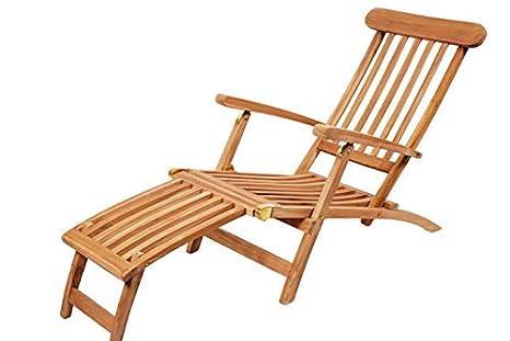 Madera maciza de teca reclinable plegable: Amazon.es: Jardín
