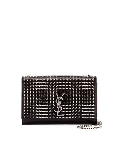 1a96366364 Saint Laurent Kate Monogram YSL Medium Oeillet-Stud Chain Shoulder Bag Made  in Italy  Handbags  Amazon.com