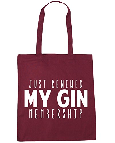 gin my Burgundy HippoWarehouse litres Just Shopping Tote 10 Beach Gym renewed 42cm x38cm Bag membership rx6raw
