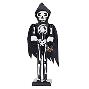Amazon.com: Kurt Adler Wooden Halloween Skeleton Nutcracker, 15 ...