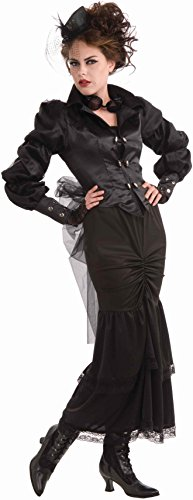 Woman's Steampunk Victorian Lady Costume, Black, One Size - Wonder Woman Costume Uk