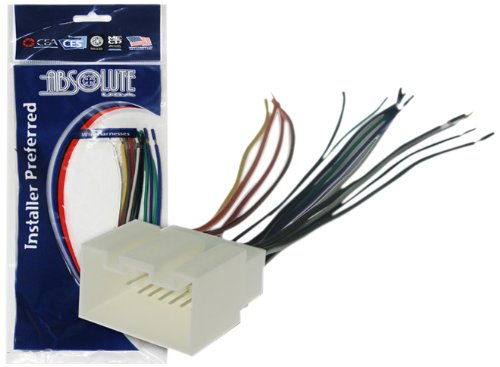71 Radio Wiring Harness for Ford/Lincoln Mercuy 1998-2010 Power 4 Speaker (70-1771, FWH-598) ()