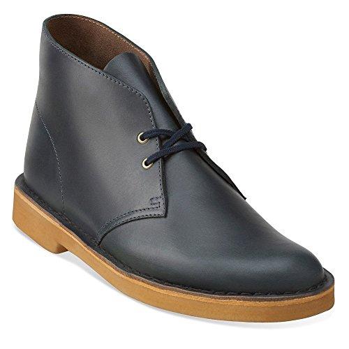 Clarks Originals Mens Desert Boot Midnight Blue Leather