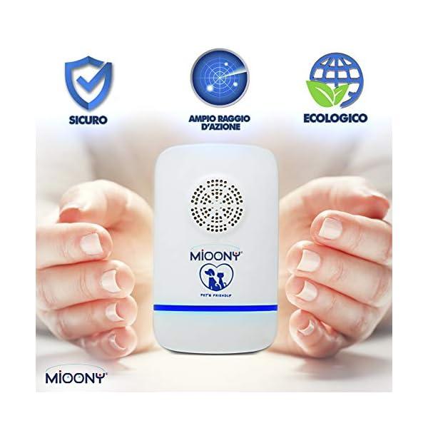 MIOONY® Repellente Ultrasuoni Anti Zanzare a Multifrequenza di 3a Generazione Contro Topi Cimici Insetti Ragni Formiche… 3 spesavip