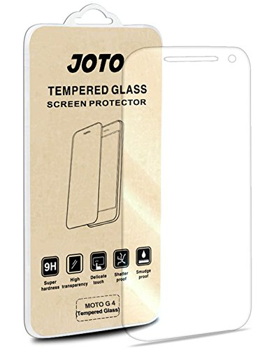 Motorola Moto G4 Tempered Glass Screen Protector - JOTO Moto G4 Tempered Glass Screen Protector Film Guard Rounded Edge Real Glass Screen Protector for MOTO G4 2016 (1 Pack)
