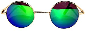 Retro Round Circle Colored Vintage Tint Sunglasses Metal Frame OWL