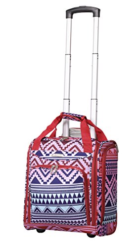 (Airline Approved Underseat Carry On Personal Item Tote Bag Small Rolling Luggage Wheeled Suitcase)