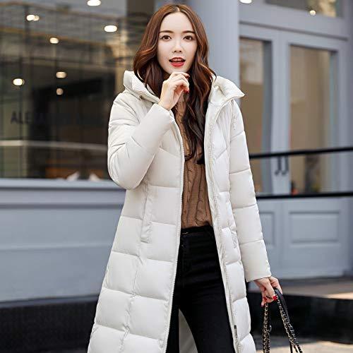 In Ispessimento Coat Slim Wososyeyo Women Casual Giacca Plug Winter L Cotone Size Dimensioni amp; Bianco Invernale avxqUfwF