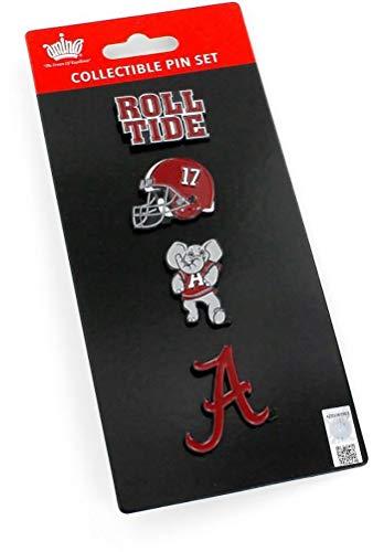 Pin Team Collectible Hat - NCAA Alabama Crimson Tide Team Pride 4 Pin SetTeam Pride 4 Pin Set, Team Color, 5 x 2-inches