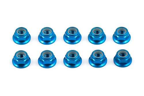 Team Associated 25390 Factory Team Blue 5mm Locknut (Factory Team Locknut)