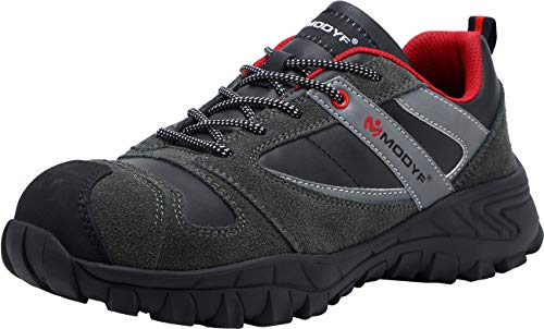 LARNMERN Steel Toe Work Shoes Men, LM-1850 SRC Safety Shoes Puncture Proof Footwear Reflective Slip Resistant