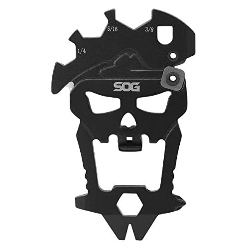 SOG MacV Tool Multi-Tool SM1001-CP - Hardcased Black, 12 Tools in One: Bottle Opener, Screwdrivers