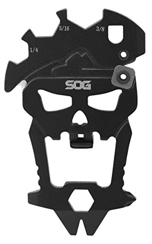 SOG MacV Tool SM1001 - Hardcased Black, 12 Tools in One: Bottle Opener, Screwdrivers