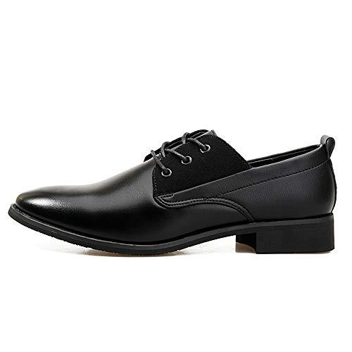 Xujw shoes lavoro Color stile 2018 in 43 Marrone Basse Nero Scarpe uomo da Oxford nuovo verniciata Stringate Dimensione EU casual pelle Scarpe britannico stile da rr0HWdq
