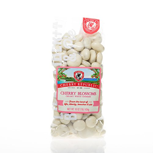 Cherry Republic Chocolate Cherries - Authentic & Fresh White Chocolate Covered Cherries Straight from Michigan - Cherry Blossoms - White Chocolate, 16 Ounces