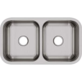 Image of Home Improvements Elkay DXUH3118 Dayton Equal Double Bowl Undermount Stainless Steel Sink