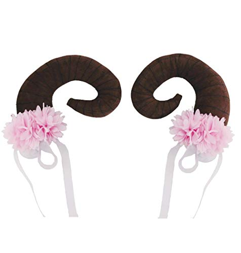 Adult Womens Floral Clustered Nymph Horn Pair Halloween Costume Accessory