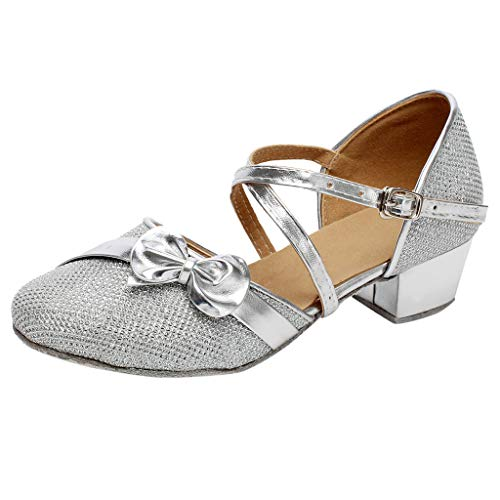 Baby Shoes Toddler Baby Girls Kids Single Party Princess Sandals Tango Latin Dancing Shoes Pumps Wedges Silver