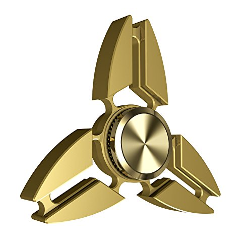 Wakeach Fidget Spinner Toy, EDC ADHD Focus Tri Hand Spinner Toys with Pure Copper Silent High Speed Ultra Durable Non-3D Printed, Made for Stress Redu…