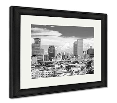 - Ashley Framed Prints New Orleans, Louisiana, USA Skyline, Wall Art Home Decoration, Black/White, 34x40 (Frame Size), Black Frame, AG32912063