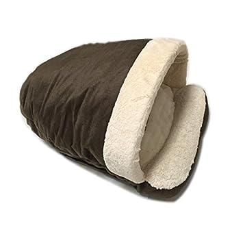Cama para Mascotas Cuna Suave y Cómodo para Perros y Gatos en Forma de Zapatilla Muy cálido casa de Mascotas 54 * 40 * 30CM (Marrón): Amazon.es: Productos ...