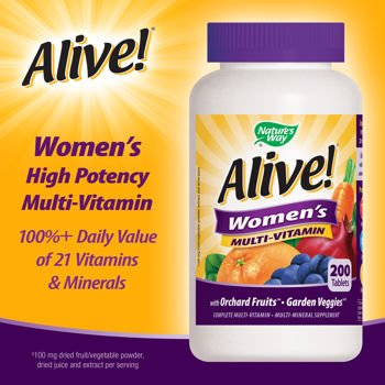 Nature's Way Alive! Women's Multivitamin 200 Tabs