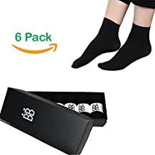 Soft Fibre Socks Made From Bamboo. 6 Pack For Women, Men, Youth, Size US 7 to 12