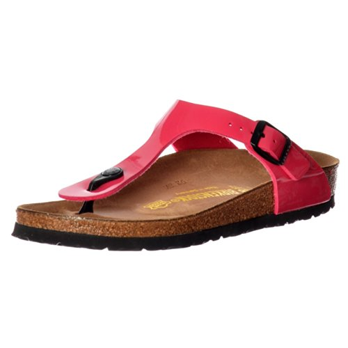 Birkenstock Classic Gizeh BirkoFlor -Standard Fitting Buckled Toe Post Thong Style - Flip Flop Sandal Ice Pearl Onyx UK5 - EU38 - US7 - AU6 Pink Patent by Birkenstock