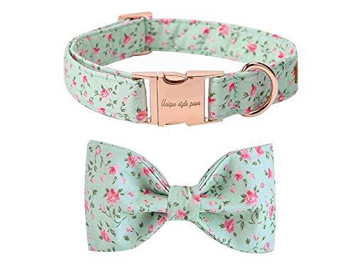 collar para perro flores Unique Style Paws medium