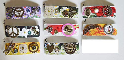 Colorful hair barrettes jewelry handcrafted floral unique art