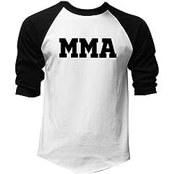 Men's Old School MMA V441 Black/White Raglan Baseball T-Shirt Medium Black/White