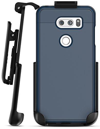 LG V30 Belt Clip Case, Ultra Slim Grip Case with Holster Clip for LGV30 Phone (Navy Blue)