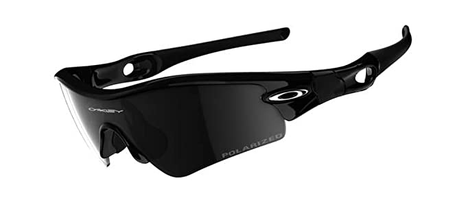 Oakley Men's Radar Path Iridium Polarized Asian Fit Sunglasses,Jet Black  Frame/Black Lens