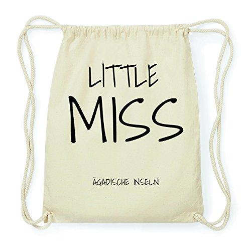 JOllify ÄGADISCHE INSELN Hipster Turnbeutel Tasche Rucksack aus Baumwolle - Farbe: natur Design: Little Miss hu1Zb