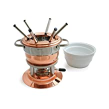 Swissmar F66415 Lausanne 11-Piece Copper Fondue Set