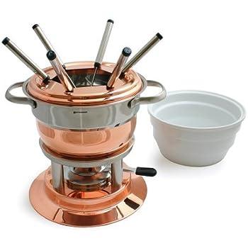 Swissmar Lausanne 11 Piece Copper Fondue Set