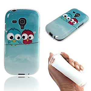 HJZ Couple Owl Painting TPU Case for Samsung Galaxy S3 Mini I8190N