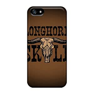 Awesome Design Longhorn Skull Hard Case Cover For Iphone 5/5s