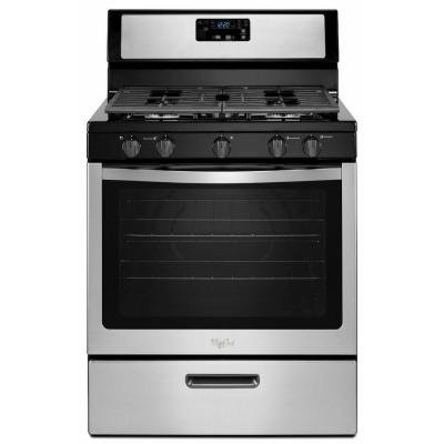 "Whirlpool WFG505M0BS 30"" Stainless Steel Gas Sealed Burner Range"