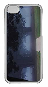 iPhone 5C Case, Personalized Custom Trees In The Misty for iPhone 5C PC Clear Case