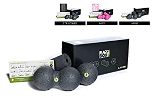 BLACKROLL BLACKBOX Mini Set, Mini Fascia Tools and Foam Roller Set, The Original, Small Self Massage Tools for Trigger Points and Pain Relief, Fast Recovery, Black