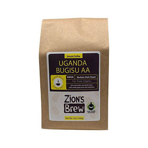 Zion's Contrive Premium Gourmet Ground Coffee - 12 Ounces (Uganda Bugisu AA)
