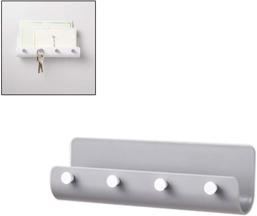 Stecto Organizador de Correo y Colgador de Llaves Rack de Llaves Adhesivo montado en la Pared con dise/ño Especial en Forma de U para Almacenamiento