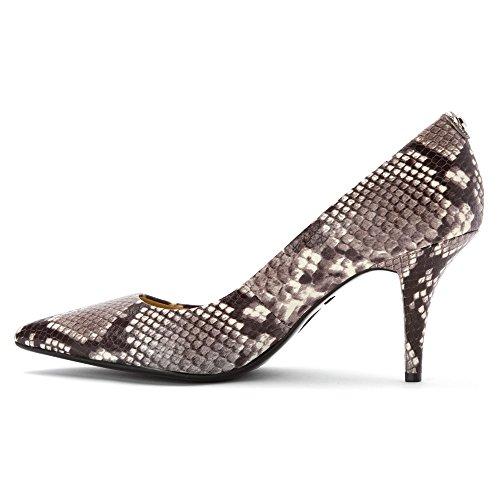 Zapato de tacón Flex Mid Pump Michael Kors de piel con estampado pitón Gris