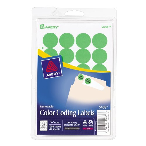 Avery Self Adhesive Removable Labels Diameter