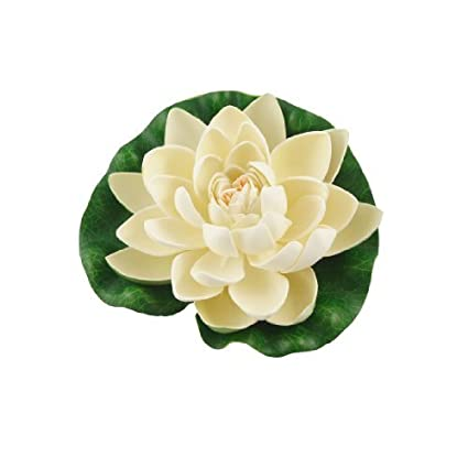 Amazon.com : eDealMax acuario espuma Lotus/Flor / hoja/planta, DE 6, 7 pulgadas, Color Beige/Verde : Pet Supplies